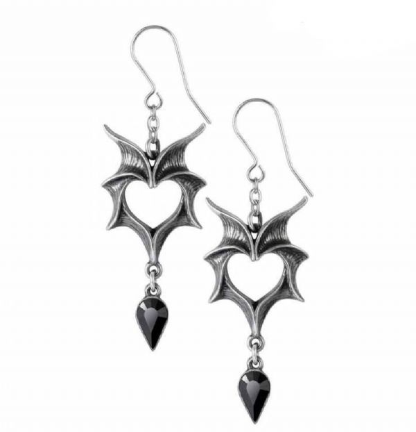 ALCHEMY GOTHIC Love Bats Dropper Earrings